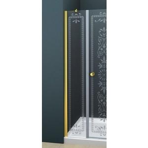 Универсальная боковая панель Cezares ROYAL PALACE-A-30-FIX-CP-G профиль золото, стекло прозрачное с матовым рисунком