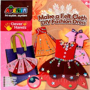AVENIR Набор для поделок из ткани ''Модное платье'' (CH1308)