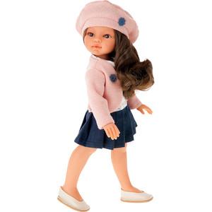 Кукла ANTONIO JUAN Эльвира в берете, брюнетка, 33см (2587B)