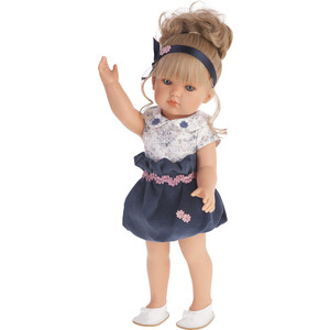 Кукла ANTONIO JUAN Белла в синем платье, 45см (2809B)