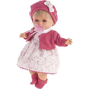 Кукла ANTONIO JUAN Кристиана в малиновом, плачущая, 30 см (1338R)