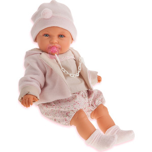 Кукла ANTONIO JUAN Роза в бежевом, плачущая, 55 см (1903W)