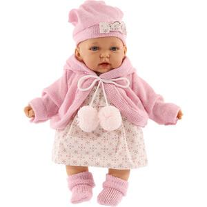 Кукла ANTONIO JUAN Азалия в розовом, со звуком, 27 см (1220P)