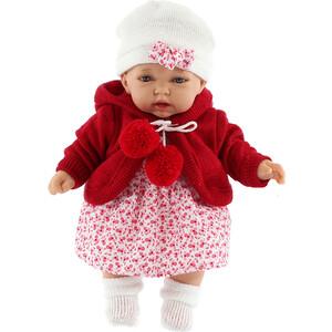 Кукла ANTONIO JUAN Азалия в красном, со звуком, 27 см (1220R)