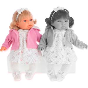Кукла ANTONIO JUAN Лорена в розовом, со звуком, 37 см (1559P)