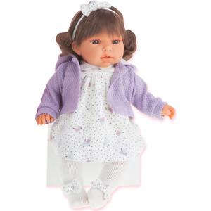 Кукла ANTONIO JUAN Лорена в фиолетовом, со звуком, 37 см (1559V)