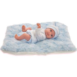 Кукла ANTONIO JUAN Пепито мальчик, на голубом одеялке, 21 см (3903B)