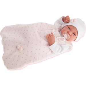 Кукла ANTONIO JUAN Младенец Кармела в розовом., 42 см (5002P)
