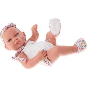Кукла ANTONIO JUAN Младенец Ника в белом, 42 см (5007W)