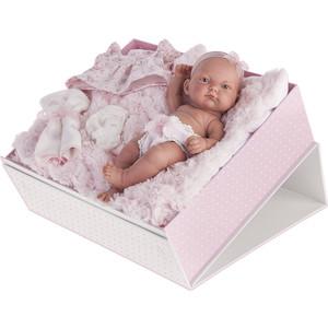 Кукла ANTONIO JUAN Младенец Карла в чемодане, роз., 26см (4068P)
