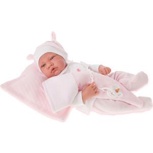 Кукла ANTONIO JUAN Жоанна в розовом, со звуком, 40 см (3366P)