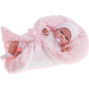 Кукла ANTONIO JUAN Вита в розовом, со звуком, 34 см (7030P)