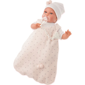 Кукла ANTONIO JUAN Самбора в розовом, со звуком, 34 см (7032P)