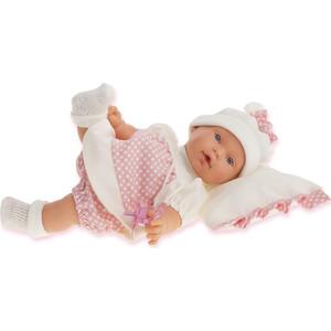 Кукла ANTONIO JUAN Ланита на бежевой подушке., плачущая, 27 см (1111W)