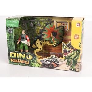 Игровой набор Chap Mei Дилофозавр и охотник со снаряжением (520151-1)