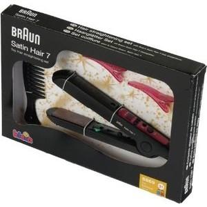 Игровой набор Klein BRAUN SATIN HAIR Набор стилиста: выпрямитель для волос, аксесссуары (5869)
