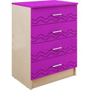 Комод Миф Юниор - 2 фиолетовый глянец