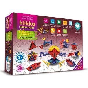 Конструктор ЗНАТОК Klikko Чудо треугольники 20 в 1 (38640)
