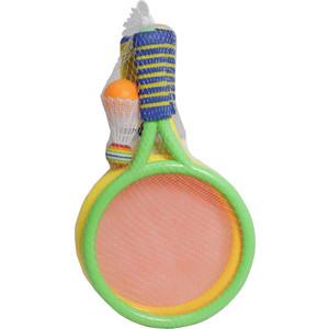 Игровой набор 1Toy 2 ракетки с сеткой, волан, мячик, блистер (Т59928)