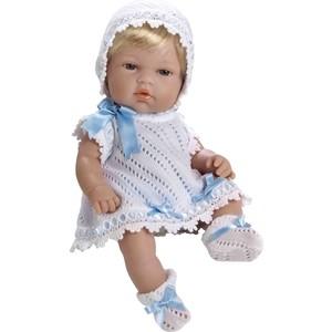 Кукла Arias ELEGANCE пупс блонд. винил.в белом вязаном с голуб.цв.,33см,кор. (Т59269)