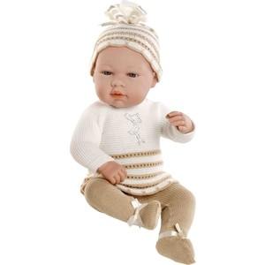 Кукла Arias ELEGANCE пупс винил.в бел./беж.костюмчике со стразами Swarowski в виде аиста,42см,кор. (Т59287)