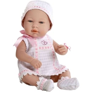 Кукла Arias ELEGANCE пупс винил.в бел./роз.платьице с цвет.стразами Swarowski в виде сердечек,42см,кор. (Т59289)