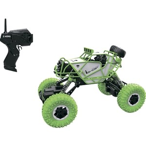Машина РУ 1Toy Раллийная, 2,4GHz, 4WD, масштаб 1:43, скорость до 14км/ч, курковый пульт, амортизаторы, с АКБ, зелено-белый (Т10947)