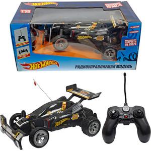 Машина РУ 1Toy Hot Wheels Багги, масштаб 1:20, cо светом и звуком, скорость до 19км/ч, с АКБ, чёрная (Т10979)