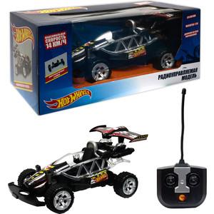 Машина РУ 1Toy Hot Wheels Багги, масштаб 1:20, со светом, на батарейках (не включены), чёрная (Т10974)