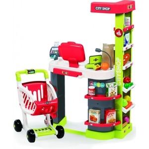 Игра в магазин Smoby Супермаркет игровой City Shop, св, зв, красный, 59,5x32x86см, 1/1 (350211)