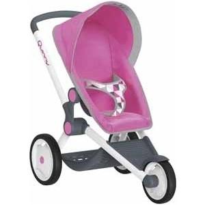 Коляска для куклы Smoby MC Quinny трехколесная Розовая (255097)