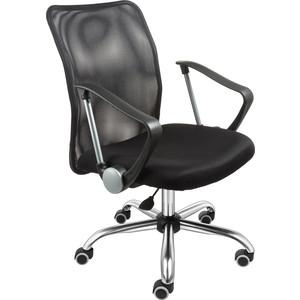 Кресло Алвест AV 217 CH (682 SL) комби сетка TW сетка 470/455 черная/черная