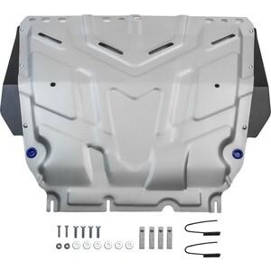 Купить Защита картера и КПП Rival для Ford Focus (2005-н.в.), Grand C-Max (2010-2015), Kuga (2008-2013), C-Max (2003-2010), алюминий 4 мм, 333.1850.1