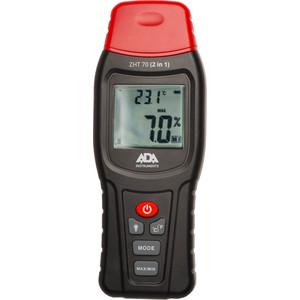 Измеритель влажности и температуры контактный ADA ZHT 70 для древесины, стройматериалов