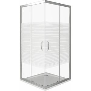 Душевой уголок Good Door Infinity CR-80-S-CH профиль хром, стекло прозрачное с рисунком (ИН00016)