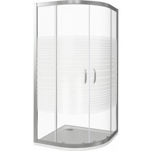 Душевой уголок Good Door Infinity R-80-S-CH профиль хром, стекло прозрачное с рисунком (ИН00004)
