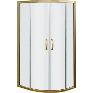 Душевой уголок Good Door Jazze R-80-C-BR профиль бронза, стекло прозрачное (ДЖ00011)