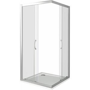 Душевой уголок Good Door Latte CR-90-C-WE профиль белый, стекло прозрачное (ЛА00006)