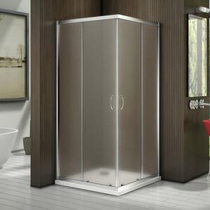 Душевой уголок Good Door Latte CR-100-G-WE профиль белый, стекло матовое (ЛА00021)