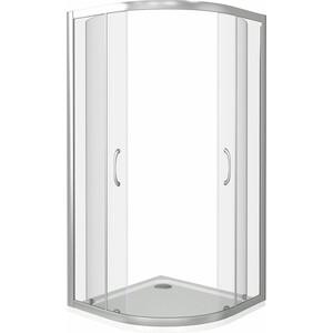 Душевой уголок Good Door Latte R-90-C-WE профиль белый, стекло прозрачное (ЛА00002)