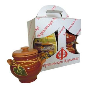 Набор из 4-х горшков для запекания Борисовская керамика № 1 (ОБЧ00000492)