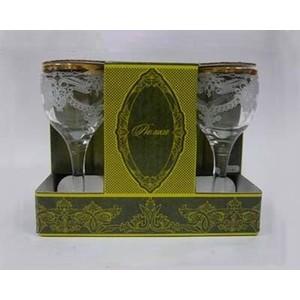 Набор рюмок 6 штук 60 мл М-Декор Лилия гравировка золото (1713-ГЗ)