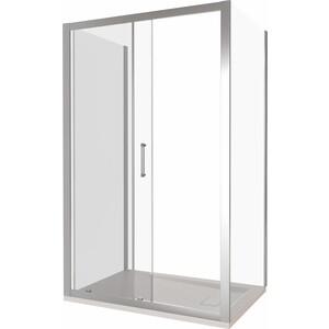 Душевой уголок Good Door Latte WTW+SP-110-80-C-WE профиль белый, стекло прозрачное (ЛА00008, ЛА00012)