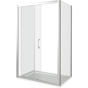Душевой уголок Good Door Latte WTW+SP-110-90-C-WE профиль белый, стекло прозрачное (ЛА00008, ЛА00013)