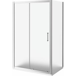 Душевой уголок Good Door Latte WTW+SP-110-80-G-WE профиль белый, стекло матовое (ЛА00022, ЛА00014)