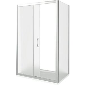Душевой уголок Good Door Latte WTW+SP-130-80-G-WE профиль белый, стекло матовое (ЛА00024, ЛА00014)