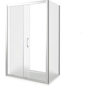 Душевой уголок Good Door Latte WTW+SP-140-80-G-WE профиль белый, стекло матовое (ЛА00025, ЛА00014)