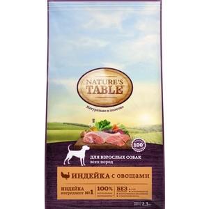 Сухой корм NATURE'S TABLE Индейка с овощами для взрослых собак всех пород 2,3кг (10179263)