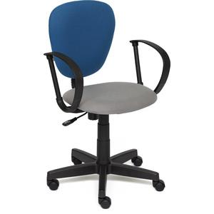 Кресло TetChair СН413 ткань серый/синий С27/С24
