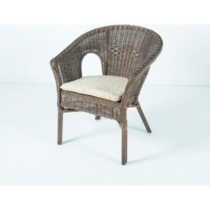 Кресло с подушкой Vinotti 02/08B темный коньяк